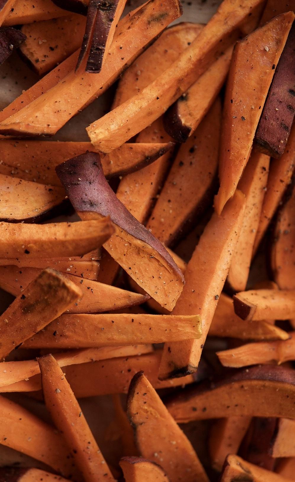 Süßkartoffelpommes mit Dip