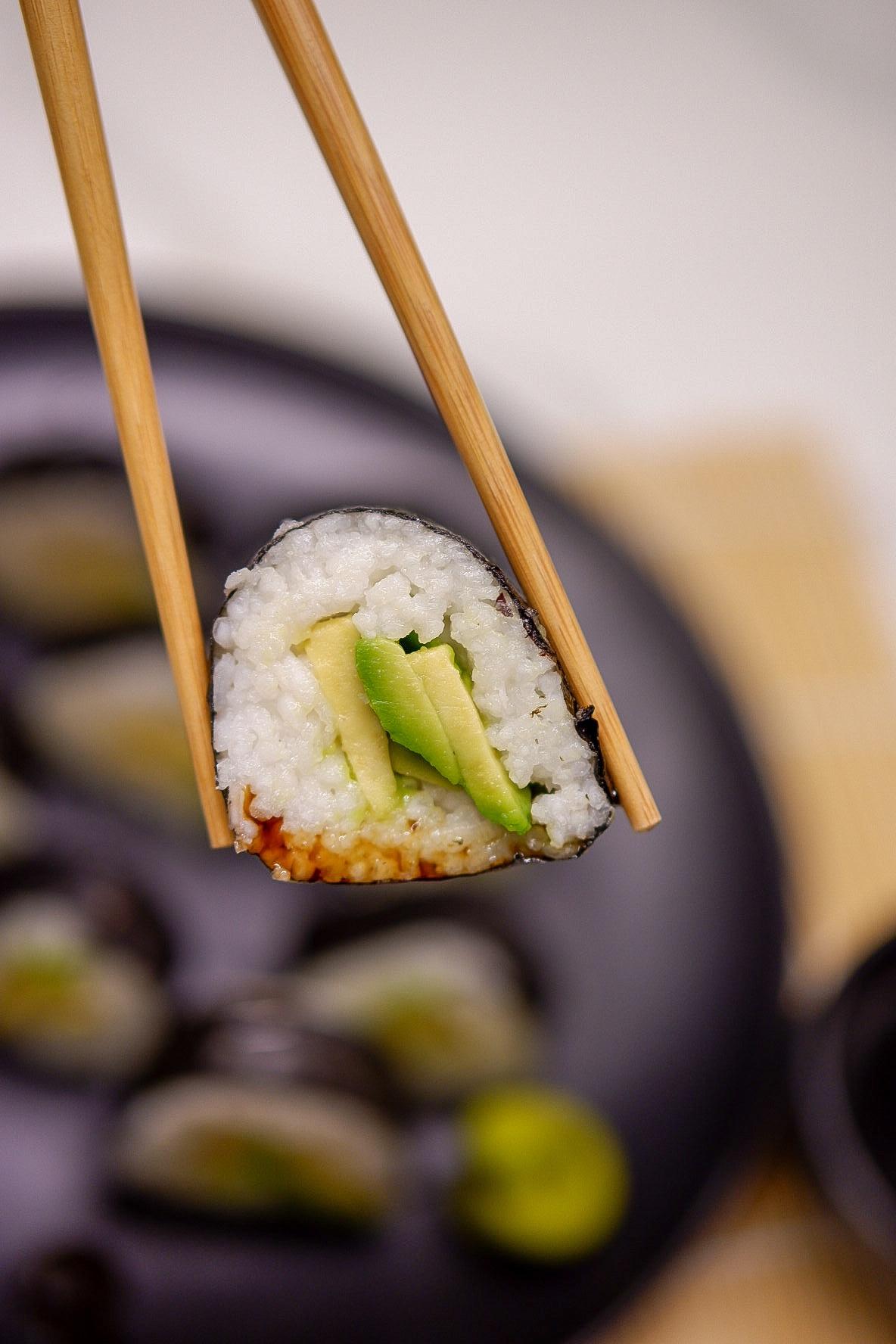 Einfaches veganes Maki Sushi